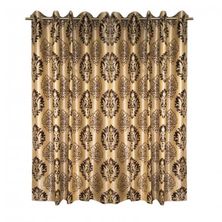 Set draperii Velaria blackout baroc wenge cu capse, 2*160x208 cm0