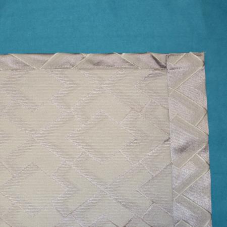 Set draperii Velaria romb gri cu turcoaz, 2x140x280 cm1