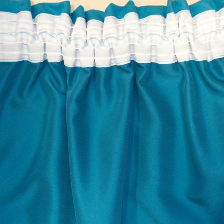 Set draperii Velaria romb gri cu turcoaz, 2x140x280 cm3