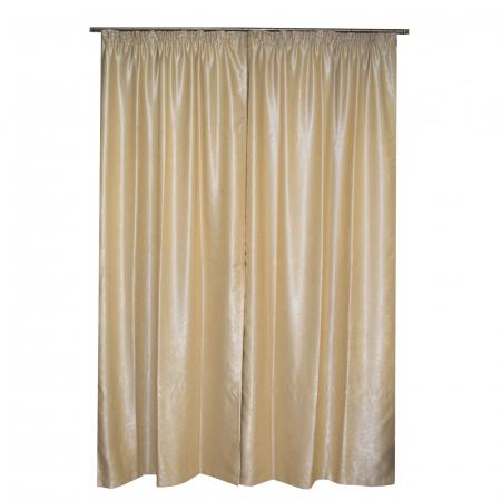 Set draperii Velaria blackout bej, 2*115x250 cm0