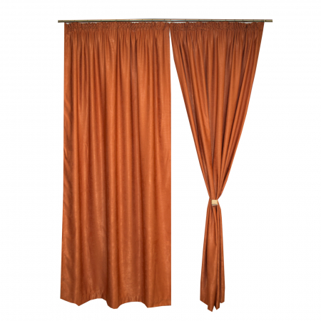 Set draperii Velaria soft caramiziu, 2*140x245 cm0