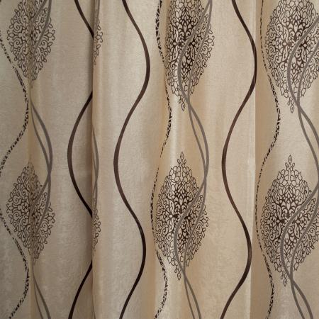 Set draperii Velaria bej cu model wenge, 2*115x245 cm [1]