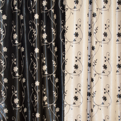 Set draperii Velaria blackout gri cu negru cu 2 fete, diverse dimensiuni3