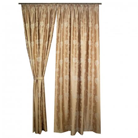 Set draperii Velaria tafta flori 3D bej, 2*165x260 cm [1]