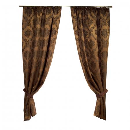 Set draperii Velaria tafta baroc maro 2x145x245 cm2