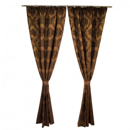 Set draperii Velaria tafta baroc maro 2x145x245 cm0