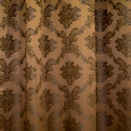 Set draperii Velaria tafta baroc maro 2x145x245 cm1
