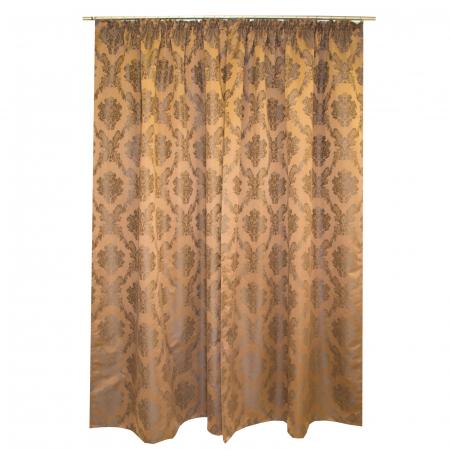 Set draperii Velaria tafta baroc maro 2x145x245 cm3