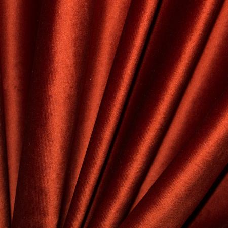 Set draperii Velaria catifea caramizie, 2x140x265 cm2