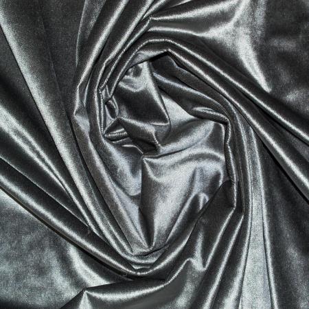 Set draperii Velaria catifea gri cu rejansa2
