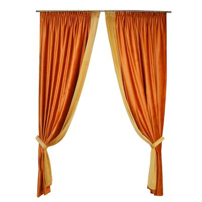 Set draperii Velaria catifea caramizie, 2x140x260 cm [0]
