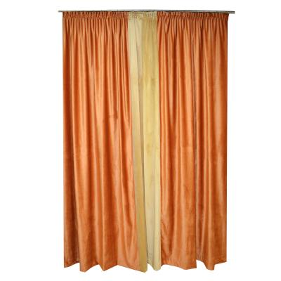 Set draperii Velaria catifea caramizie, 2x140x260 cm [1]