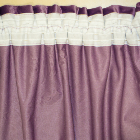 Set draperii Velaria catifea mov 3D-gri, 2x130x260 cm4