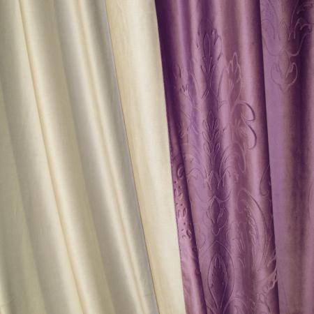 Set draperii Velaria catifea mov 3D-gri, 2x130x260 cm2