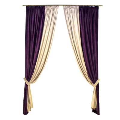 Set draperii Velaria catifea mov, 2x150x260 cm [0]