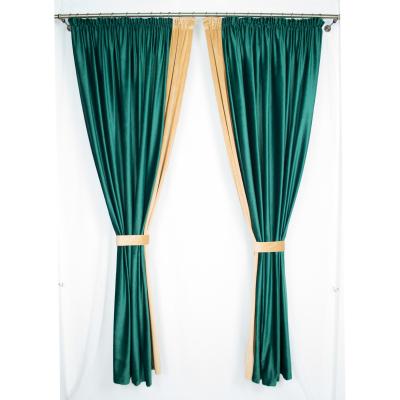 Set draperii Velaria catifea smarald, 2x185x225 cm0