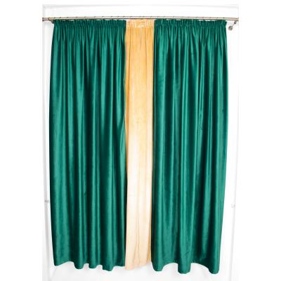 Set draperii Velaria catifea smarald, 2x185x225 cm2