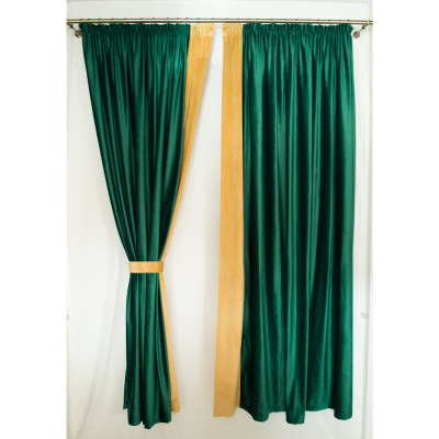Set draperii Velaria catifea smarald, 2x185x225 cm3