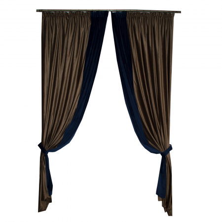Set draperii Velaria catifea maro, 2x150x270 cm2