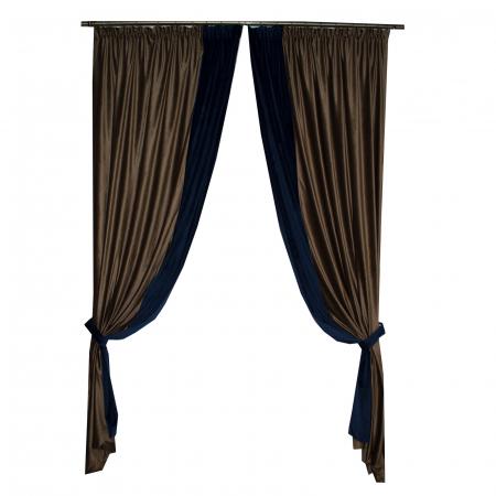 Set draperii Velaria catifea maro, 2x140x270 cm [2]