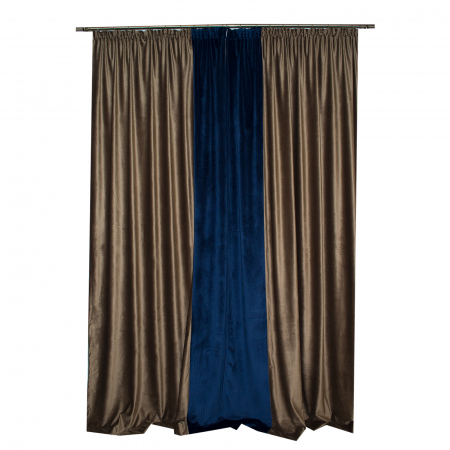Set draperii Velaria catifea maro, 2x150x270 cm3