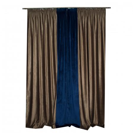 Set draperii Velaria catifea maro, 2x140x270 cm [3]