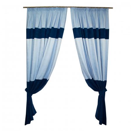 Set draperii Velaria albastru, 2x180x255 cm0