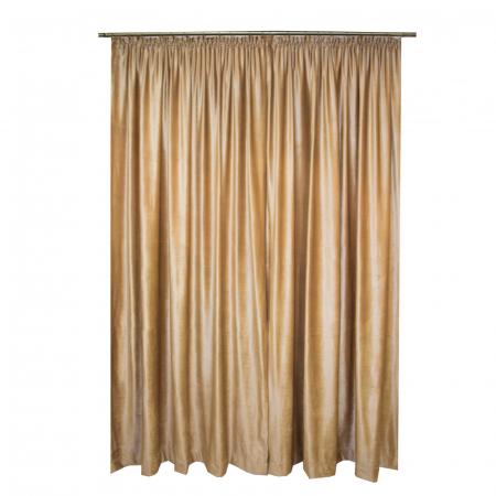 Set draperii Velaria catifea caramel 2x165x265 cm1
