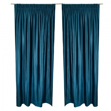 Set draperii Velaria catifea marin, 2x165x260 cm3