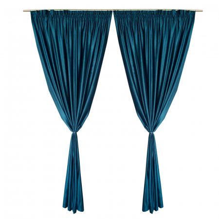 Set draperii Velaria catifea marin, 2x165x260 cm2