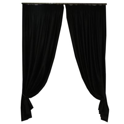 Set draperii Velaria soft negru 470x245 cm0