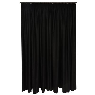 Set draperii Velaria soft negru 470x245 cm2