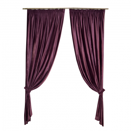 Set draperii Velaria catifea pruna 2x140x270 cm0