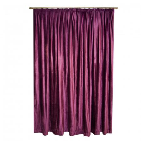 Set draperii Velaria catifea pruna 2x140x270 cm1