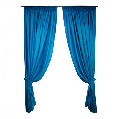 Set draperii Velaria albastru intens, 2x230x260 cm0