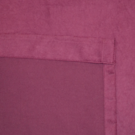 Set draperii Velaria suet pruna, 2x140x260 cm3