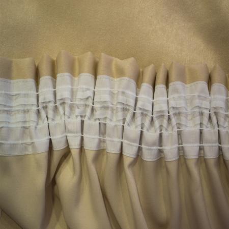 Set draperii Velaria crem cu mov, 2x235x260 cm2