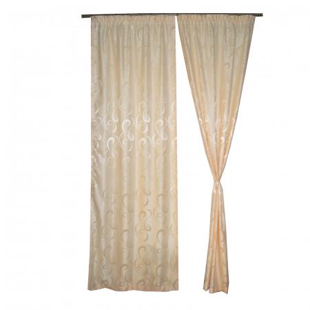 Set draperii Velaria jacard unt, 2x95x260 cm0