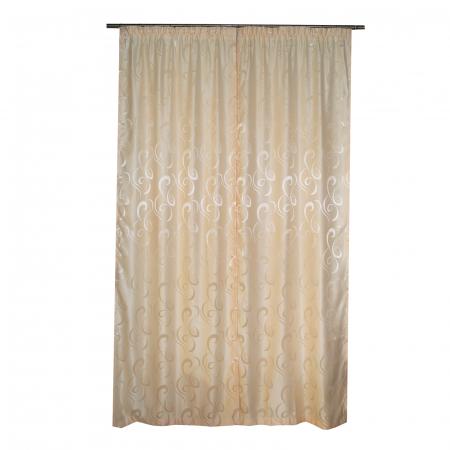 Set draperii Velaria jacard unt, 2x95x260 cm3