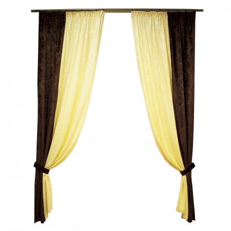 Set draperii Velaria unt-wenge, 2x115x235 cm0