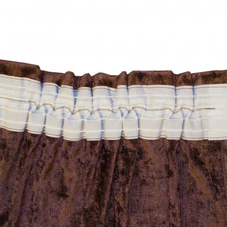 Set draperii Velaria unt-wenge, 2x115x235 cm3