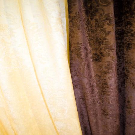 Set draperii Velaria unt-wenge, 2x115x235 cm2