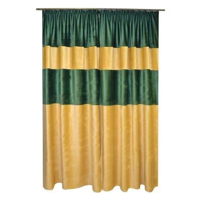 Set draperii Velaria bej-smarald, 2x140x260 cm1