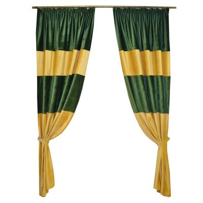 Set draperii Velaria bej-smarald, 2x140x260 cm0
