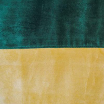 Set draperii Velaria bej-smarald, 2x140x260 cm2