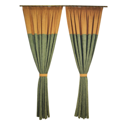 Set draperii Velaria verde -bej, 2x185x230 cm0