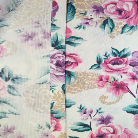 Set draperii Velaria floral mov, 2x155x255 cm4