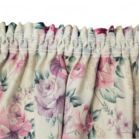 Set draperii Velaria floral mov, 2x155x255 cm3