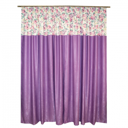Set draperii Velaria floral mov, 2x155x255 cm1