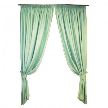 Set draperii Velaria verde salvie 2x200x260 cm0